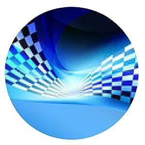alfombrilla de ratón cuadros de carreras wawing fondo de la bandera - ronda - 20cm