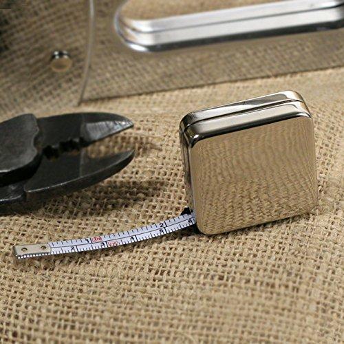ive And Elegant Silver Square Measure Tape (Square Tape Measure)