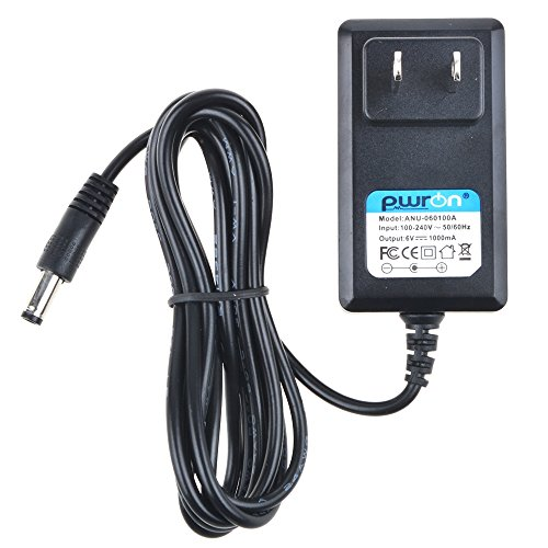 PwrON 6.6 FT 6V AC to DC Adapter for Canon P23-DH V P20-DX P11-DH A20630N Mini-Desktop Printing Calculator Power - Power Calculator Supply