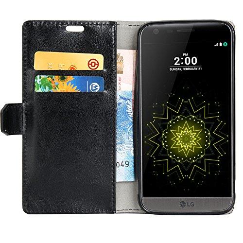 LG G5 Hülle,Smacho Ledertasche Bookstyle Leder Flip Case Cover Handyhülle Schutzhüll Tasche (LG G5)