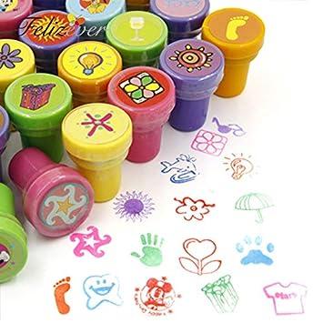 Amazon.com: Sellos de tinta para fiestas de cumpleaños ...