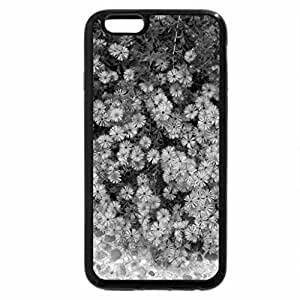 iPhone 6S Case, iPhone 6 Case (Black & White) - Spring flowers