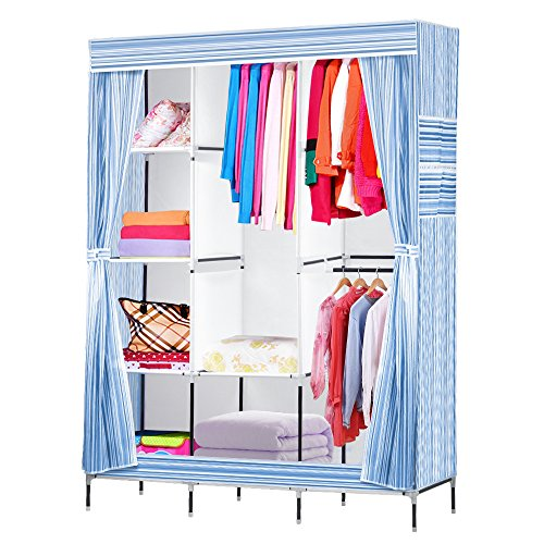 Price comparison product image NEX Wardrobe DIY Clothes Storge Cabinet Portable Tool Organizer Bedroom Closet Doll Collection