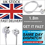 "UK extension power cord for Apple AC Adapter Charger Macbook 13"" Macbook Pro 15"""