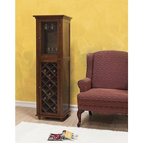 Custom Brown Living Room 20-bottle Wine Storage Cabinet by Kensington