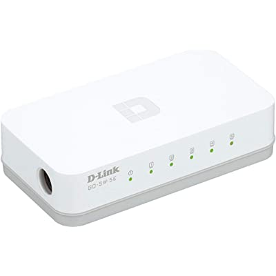 D-Link GO-SW-5E - Switch de Red con 5 Puertos 10/100 Mps, Color Blanco