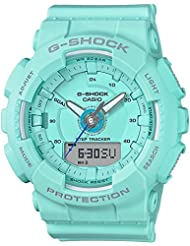 Ladies Casio G-Shock S-Series Light Teal Step Tracker Watch GMAS130-2A