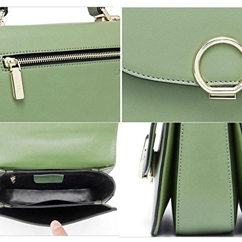 européen sac sac à style Style Sac bandoulière féminin féminin Green main Bag Sac Messenger Lxf20 en PU à métal pR6xqX