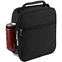 Insulated Lunch Bag - Reusable Lunch Box - Insulated Lunch Container Cooler Bag for Women&Men&Kid Office Work School Picnic Hiking (Black)