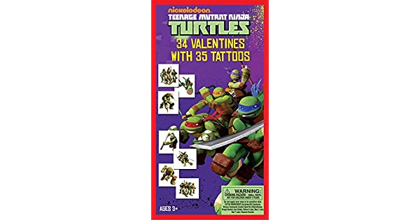 Amazon.com: Paper Magic 34CT Deluxe – Tattoos Teenage Mutant ...
