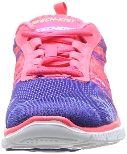 Skechers Flex Appeal Trade Winds Damen Sneakers Rot (Crl)