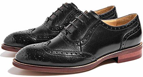 oxford da brogue Nero comode pelle in Scarpe scarpe vintage da da ufficio SimpleC 1 donna ufficio z8gRq