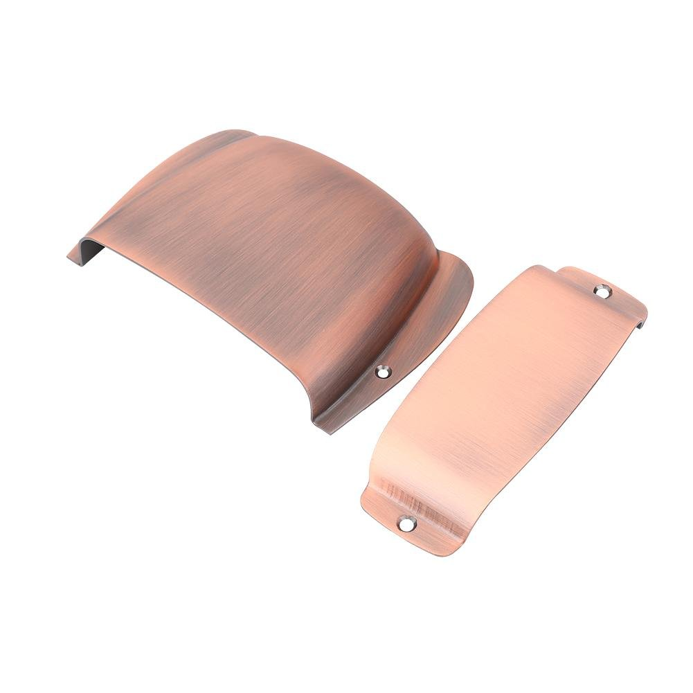 Guitar Bridge Cover, Zinc Alloy Pickup Cover Protector for Jazz Bass Electric Bass Guitar Part Replacement (Bronze)