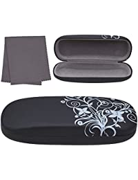 e4691856a461 Hard Eyeglass Case, Floral Designed Protective Clamshell Holder for Glasses  and Sunglasses