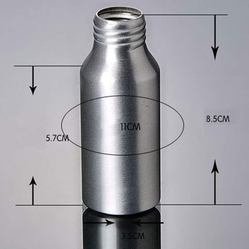 GHfashion Bouteille vide en aluminium rechargeable avec pompe /à presser 30//50 ml
