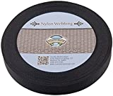 Country Brook Design | 1 Inch Black Lite Weight Nylon Webbing, 25 Yards