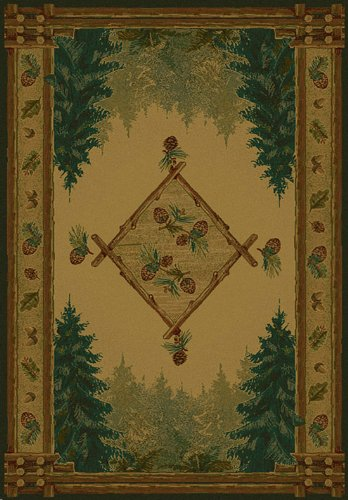 Cheap FOREST TRAIL LOD Rug from the GENESIS Collection (63 x 90) by United Weavers