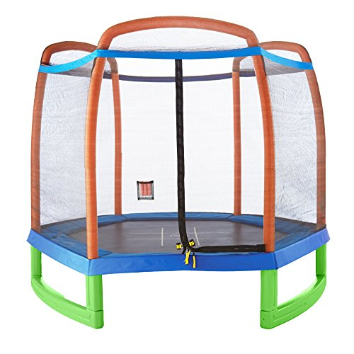 Pure Fun 7-Foot Trampoline with Enclosure Set by Pure Fun