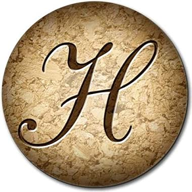 Letter H on Cork Design Mouse Pad
