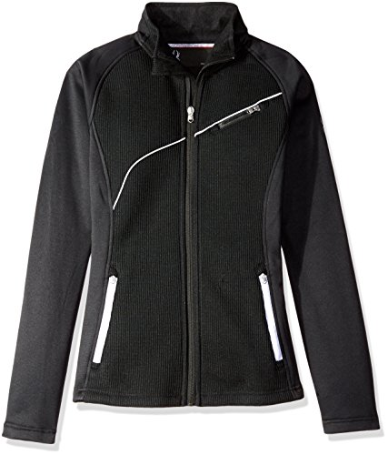 Spyder Women's Essential Mid Weight Stryke Fleece Jacket, X-Large, Black/White,X-Large,Black/White