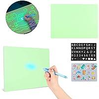 Kids Light Drawing Pad Fluorescent Plate Glowing in The Dark Multifunctional Drawing Writing Board Graffiti Educational…