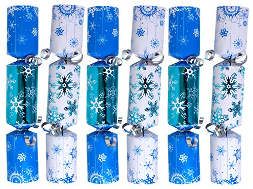 6-Pack Christmas No-Snap Party Favor 9-Inch (Blue Snowflakes)