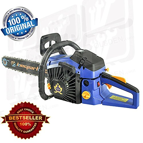 "Price comparison product image TOOLSDEN KP-5800-22 Kingpark 2400W Fuel Chainsaw Heavy Duty -58Cc 22"" 2 Stroke"