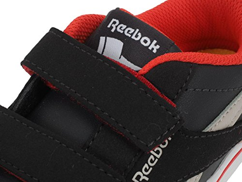 Reebok Bs7980, Zapatillas de Deporte Unisex Niños Negro (Coal / Sand Stone / Dayglow Red)