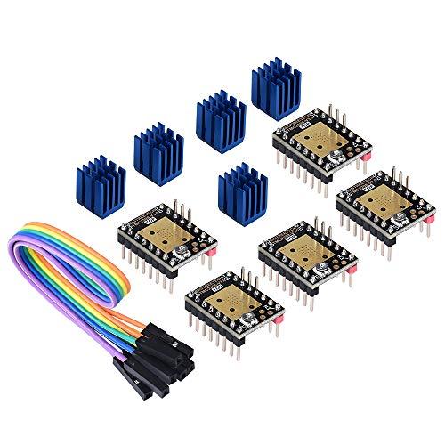 BIQU 3D Printer Part Stepstick Mute TMC2208 V3 0 Stepper Motor Driver with  Heatsink for SKR V1 3 MKS GEN L Ramps 1 4/1 5/1 6 3D Printer Control