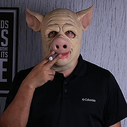 FHDUY Halloween Mascara De León Cabeza De Caballo Cerdo Conejo Vaca Gato Cock Animal Mask Mascara