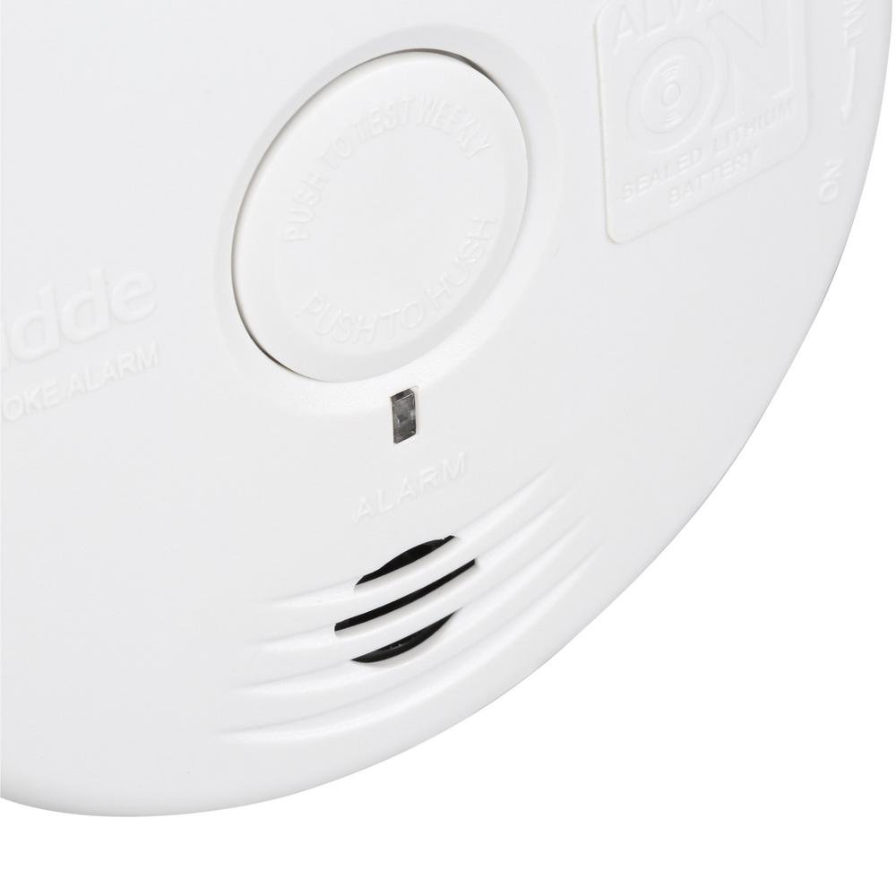 Kidde 21010167 P3010H Worry-Free Hallway Photoelectric Smoke Alarm with  Safety Light and 10 Year Sealed Battery