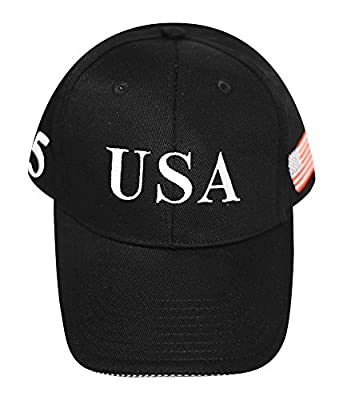 FITTED Trump Black hat, Flex Fit, 45, USA
