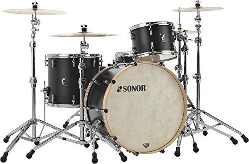 Sonor SQ1 3-Piece Shell Pack with 24 in. Bass Drum GT Black