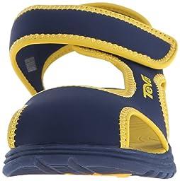 Teva Tidepool CT Water Sandal (Toddler/Little Kid), Navy/Yellow, 6 M US Toddler