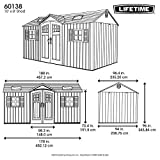 Lifetime 60138 Outdoor Storage Shed, Desert