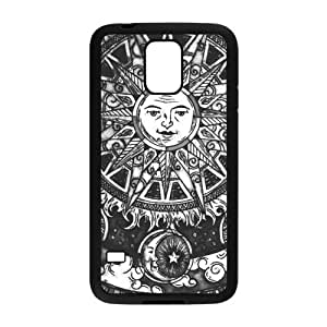 Personalized Fantastic Skin Durable Rubber Material Samsung Galaxy s5 Case - Sun and Moon