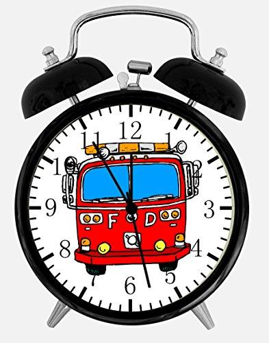 Fire Truck Alarm Desk Clock 3.75