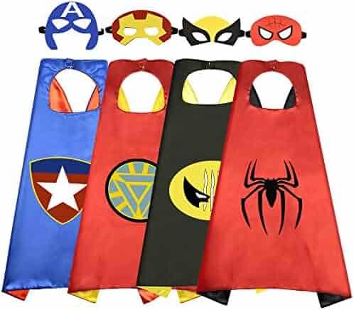Roko Fun Cartoon Superhero Capes for Kids - Best Gifts Halloween…