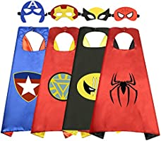 Roko Toys for 3-10 Year Old Boys, Superhero Capes for Kids 3-10 Year Old Boy Gifts Boys Cartoon Dress up Costumes Party...