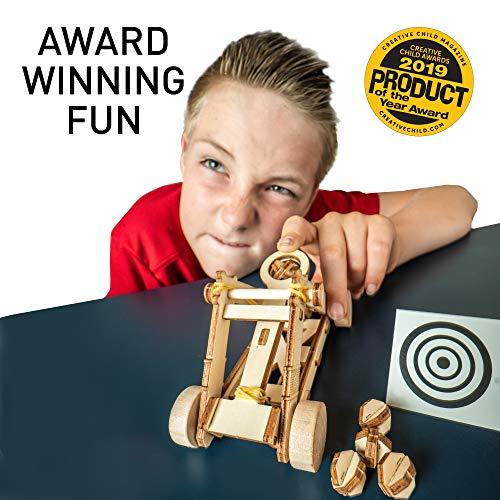 51UhL68m8OL - NATIONAL GEOGRAPHIC - Da Vinci's DIY Science & Engineering Construction Kit - Build Three Functioning Wooden Models: Catapult, Bombard & Ballista