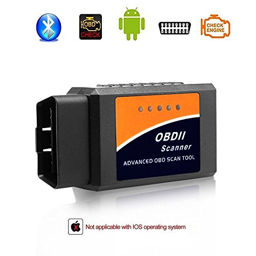 (Giveet Car Bluetooth OBD2 Scanner-Wireless OBD 2 Scan Tool Interface Scanner-OBDII Car Code Reader Check Engine Light Diagnostic Tool for Android & Windows Devices)