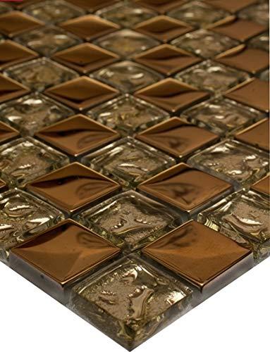 1 tapete de azulejos de mosaico de vidrio mosaico mosaico mosaico de 8 mm 30x30 Copa de Oro Nuevo