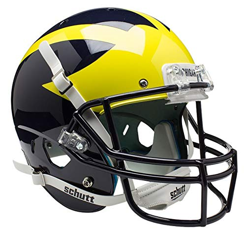 (Schutt NCAA Michigan Wolverines Replica XP Football Helmet, Classic)