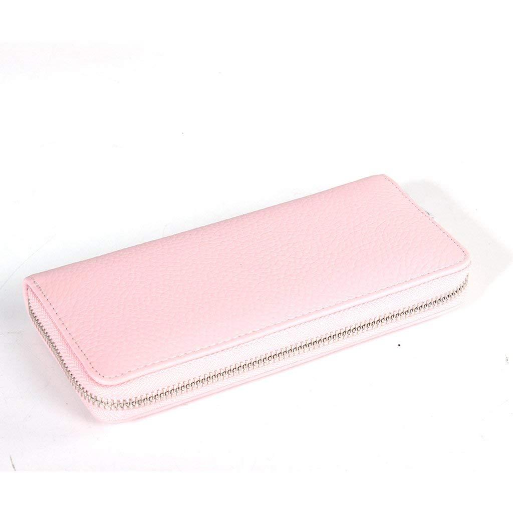 5 Soft Women's Leather Wallets RFID Blocking Vintage Design Large Capacity Handbag (color    3)
