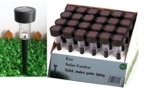 Eco Garden Brand 24 Outdoor Garden LED Solar Path Landscape Light Large 62mm Black Color For Sale