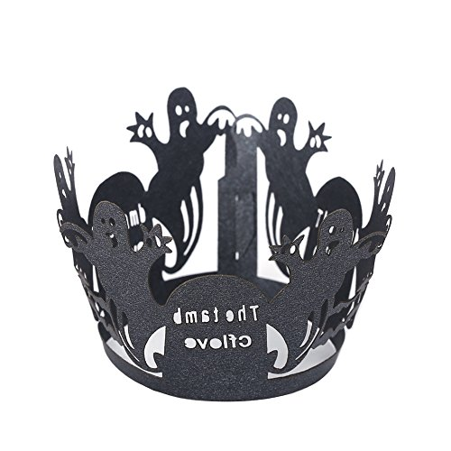 Halloween Black Cupcake Wrappers Liners - Siduo ZK011