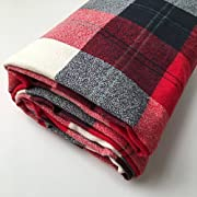 Rustic Red Plaid Crib Sheet for Woodland Nursery and Boy Baby Bedding