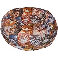 Ahh! Products Kittens Anti-Pill Fleece Washable Large Bean Bag Chair Plush