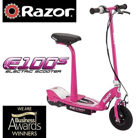 Scooter eléctrico con asiento Razor E100S (rosa): Amazon.es ...