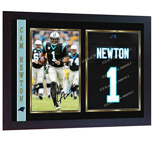 S&E DESING New Cam Newton Carolina Panthers NFL Signed Autograph American Football Framed